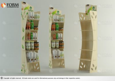 plywood display rack (15326f)