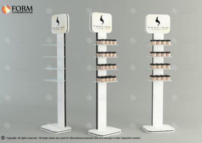 Cosmetics display rack Promotional rack for a face creams (15256)