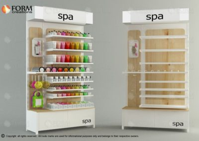 Cosmetics display rack, meuble pour les cosmetiques (15359)