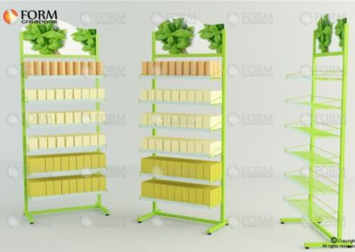 Display rack with wire bascets (15007)