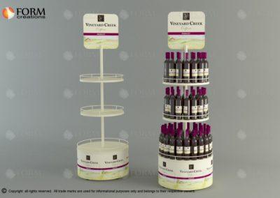 Promotional rack for wine bottles (15238)