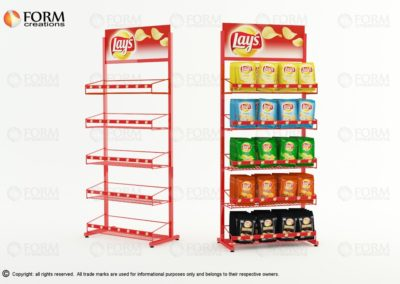 Snacks display with bascets (15378)