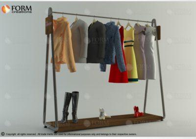 Stojak ekspozycyjny, konfekcyjny na odzież i buty (17066)
