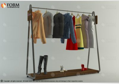 Store fixtures, display rack for clothes and shoes (17066)